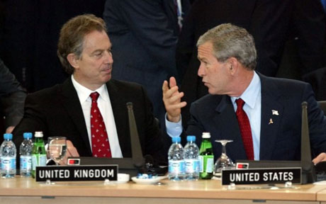 Blair and Bush. co conspirators?