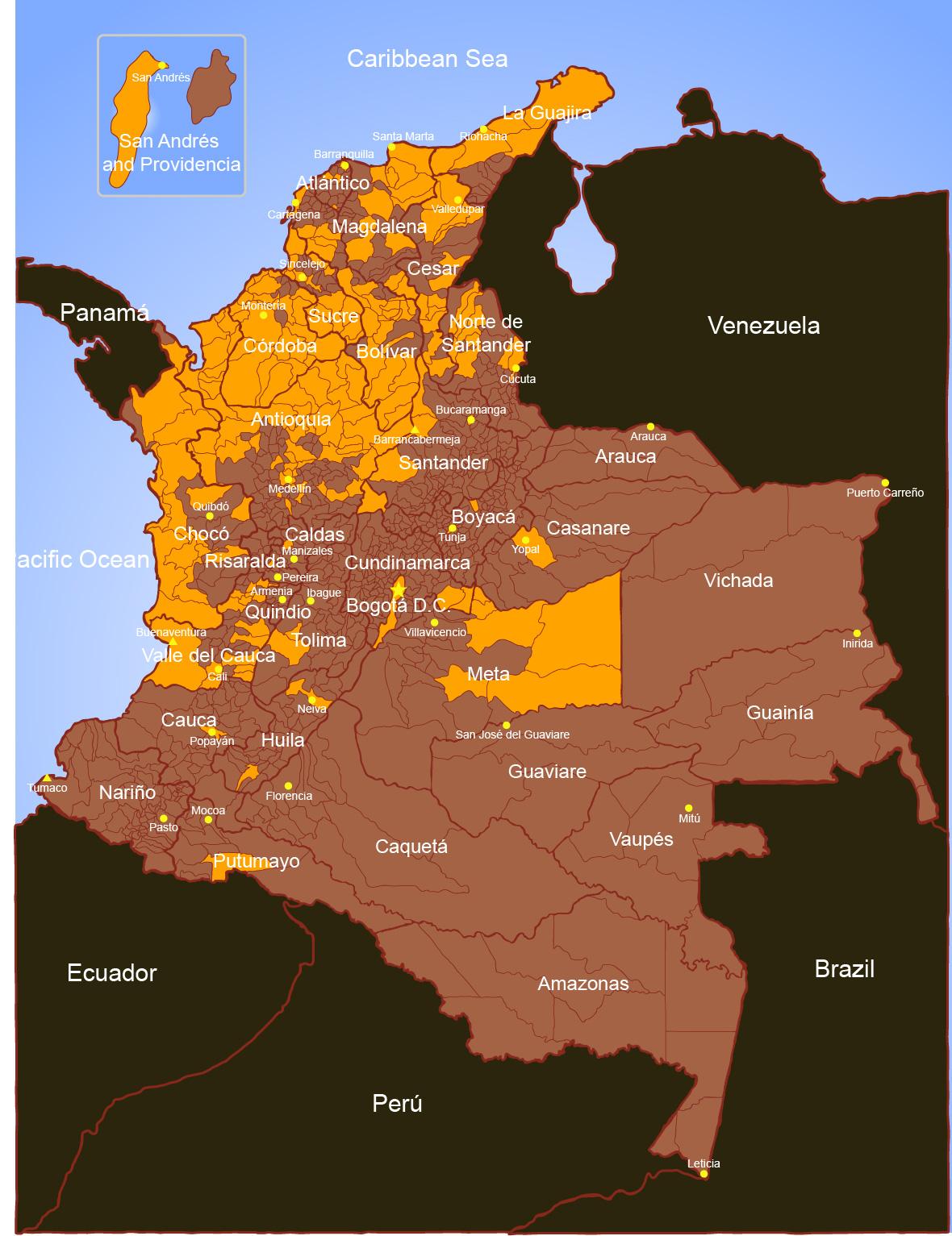 Urabenos-Areas of Influence 2012