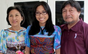 Dr Jerusalen Smith and her parents