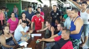 Cuban migrants on Panama-Costa Rica border
